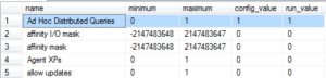 Ad Hoc Distributed Queries Enabled