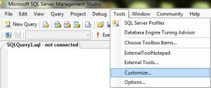 Customize External tools