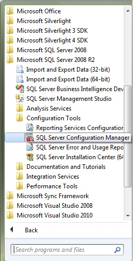 Open SQL Server Configuration Manager