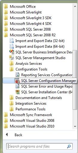 Open SQL Server Configuration Manager