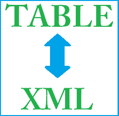 Table to XML and XML to Table